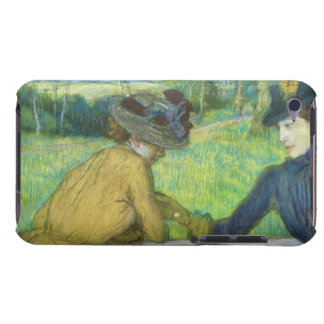 Edgar Degas | Two women leaning on a gate iPod Touch Case-Mate Case