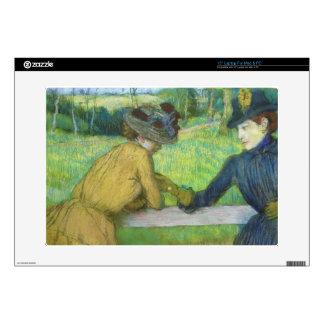 Edgar Degas | Two women leaning on a gate Skin For Laptop