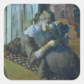 Edgar Degas | Two Women Square Sticker
