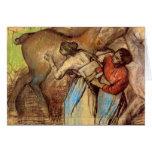 Edgar Degas - Two women washing horses Greeting Cards