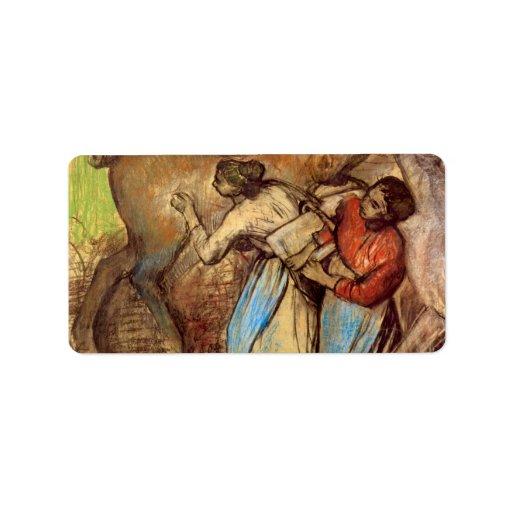 Edgar Degas - Two women washing horses Custom Address Labels