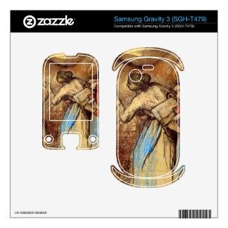 Edgar Degas - Two women washing horses Samsung Gravity 3 Skin