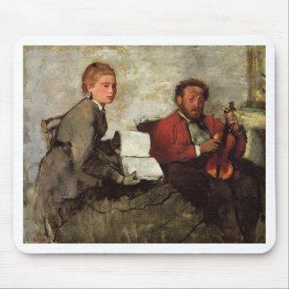 Edgar Degas - Voilinist y mujer con el libro de mú Tapete De Ratones