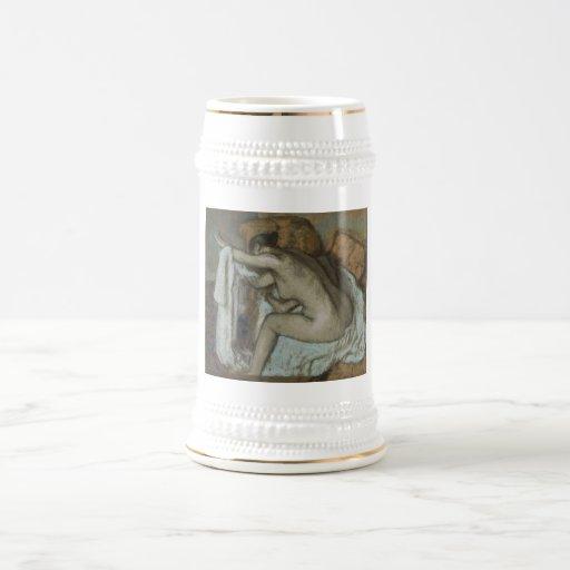 Edgar Degas - Woman Drying Left Arm 1884 Pastel Beer Stein