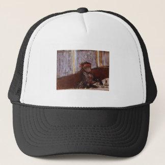 Edgar Degas - Woman in Cafe 1877 Hat Plaid Coffee