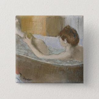 Edgar Degas | Woman in her Bath, Sponging her Leg Button