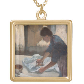 Edgar Degas | Woman Ironing, c.1876-87 Gold Plated Necklace