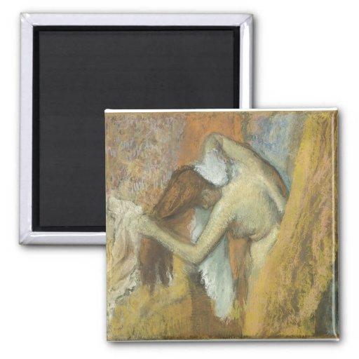 Edgar Degas - Woman @ Toilette 1900-05 Vanity Hair 2 Inch Square Magnet