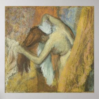 Edgar Degas - Woman @ Toilette 1900-05 Vanity Hair Poster