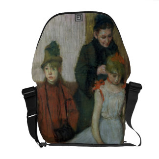 Edgar Degas | Woman with two little girls Courier Bag