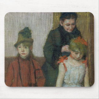 Edgar Degas | Woman with two little girls Mouse Pad