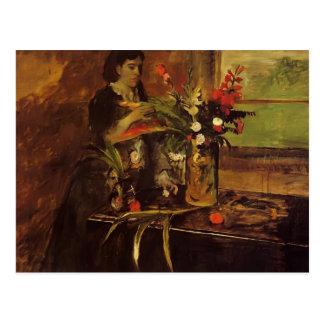 Edgar desgasifica el retrato de Mme. Rene De Gas Tarjeta Postal