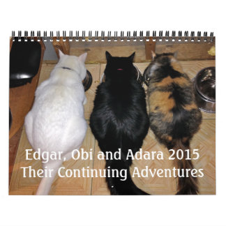 Edgar, Obi and Adara 2015 Cat Calendar