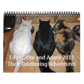 Edgar, Obi and Adara 2015 Cat Calendar