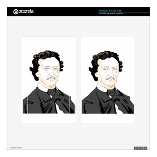 Edgar Poe Decal For Kindle Fire