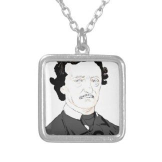 Edgar Poe Silver Plated Necklace