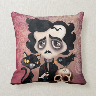 Edgar Poet Throw Pillow