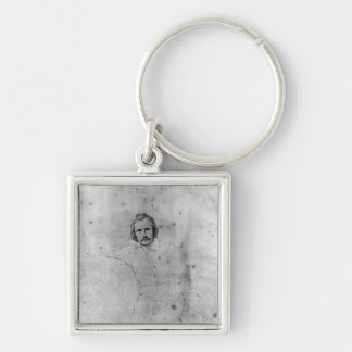 Edgar Quinet, 1833 Silver-Colored Square Keychain