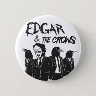 Edgar & The Crows Button