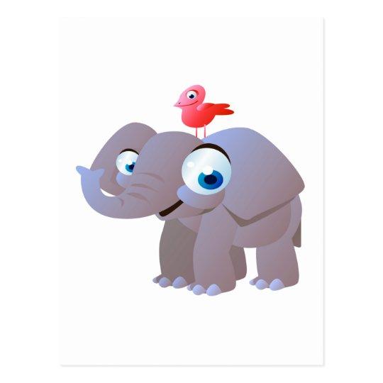 Edgar The Elephant Postcard