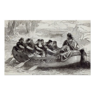 Edgar the Pacific being rowed down the River Poster