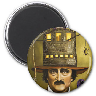 EdgarAllan Poe 2 Inch Round Magnet