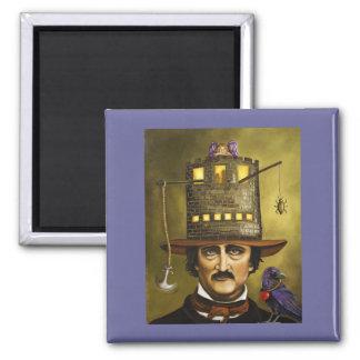 EdgarAllan Poe 2 Inch Square Magnet