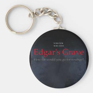 Edgar's Grave poster Basic Round Button Keychain