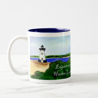 Edgartown Harbor Light Mug (Text)
