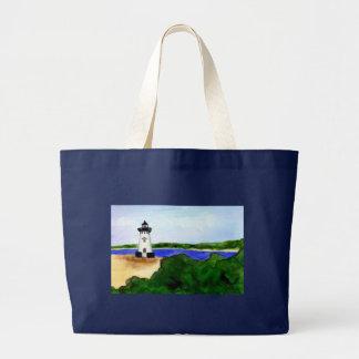 Edgartown Harbor Lighthouse Tote Bag