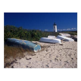 Edgartown Lighthouse and Beach Postcard