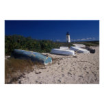 Edgartown Lighthouse and Boats Martha's Vineyard Poster