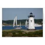 Edgartown Lighthouse at Martha's Vineyard Card