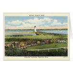 Edgartown Lighthouse Martha's Vineyard c1925 Greeting Card