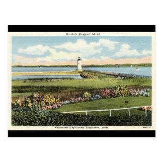Edgartown Lighthouse Martha's Vineyard c1925 Postcard