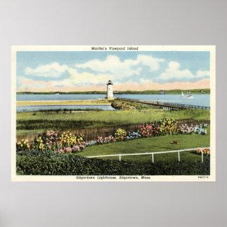 Edgartown Lighthouse Martha's Vineyard c1925 Print