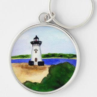 Edgartown Lighthouse Martha's Vineyard Keychain