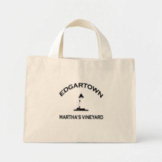 Edgartown MA - Lighthouse Design. Canvas Bag