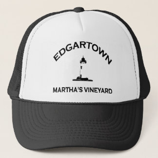 Edgartown MA - Lighthouse Design. Trucker Hat