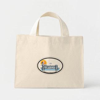 Edgartown MA - Oval Design. Tote Bags