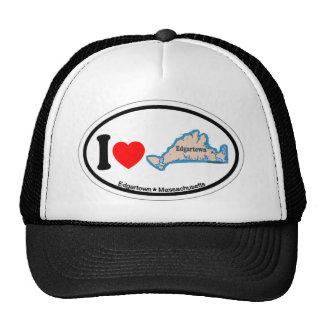 Edgartown MA - Oval Design. Trucker Hat