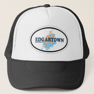 Edgartown MA - Oval Design. Trucker Hat