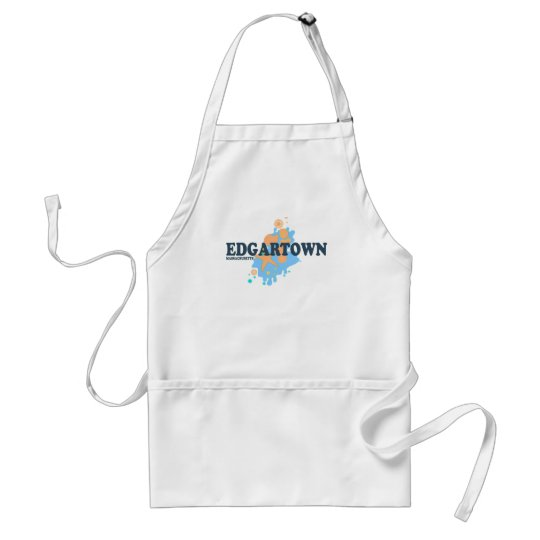 Edgartown MA - Seashell Design. Adult Apron