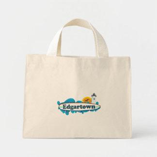 Edgartown MA - Surf Design. Tote Bag