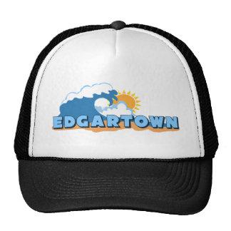 Edgartown MA - Waves Design. Trucker Hat