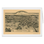 Edgartown, mapa panorámico del mA - 1886 Tarjeta De Felicitación