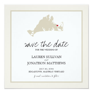 Edgartown Martha's Vineyard Wedding Save the Date Card