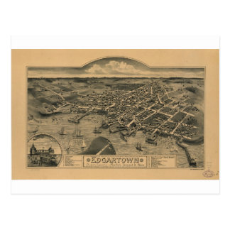 Edgartown, Massachusetts in 1886 Postcard
