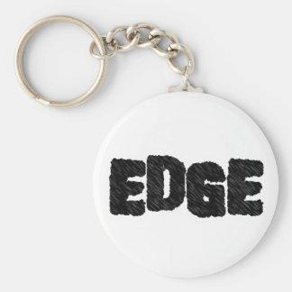 Edge Basic Round Button Keychain