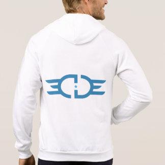 EDGE Blue Logo American Apparel Zip Hooded Sweatshirt